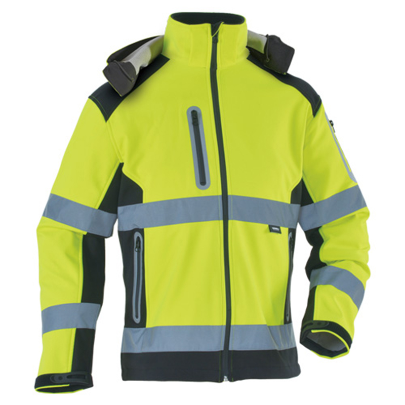 Image 2 - High quality orange softshell jacket high visibility Reflective safety jacket workwear outdoor wear free shipping-in Safety Clothing from Security & Protection