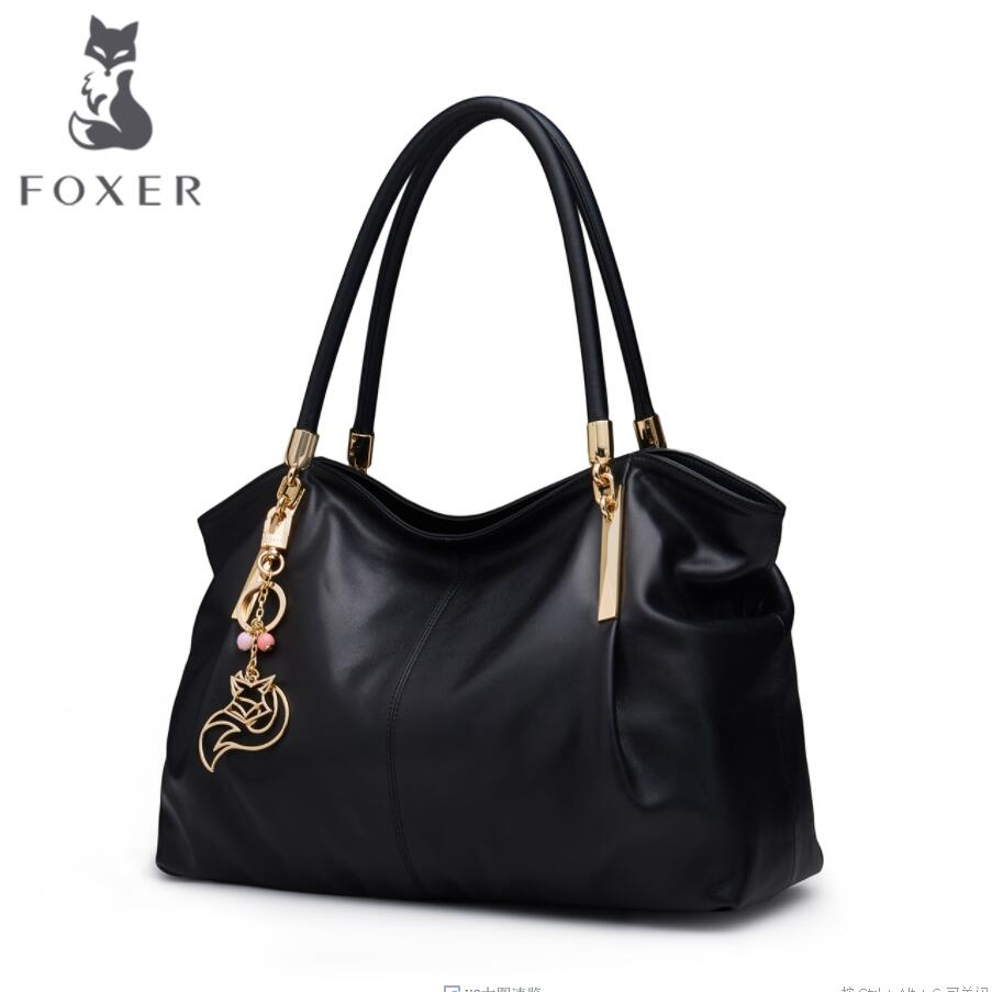 FOXER 2017 New quality women Genuine Leather handbags luxury handbags women bags designer Large capacity leather shoulder bag 2017 new chinese style embossing luxury handbags women bags designer genuine leather quality women leather handbags shoulder bag