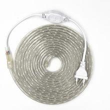 Ip67 5050 flexível conduziu a luz de tira ac220v 60 leds/m impermeável ip67 conduziu a fita a luz com plugue de alimentação da ue 1 m/2 m/3 m/5 m/10 m/15 m/20 M