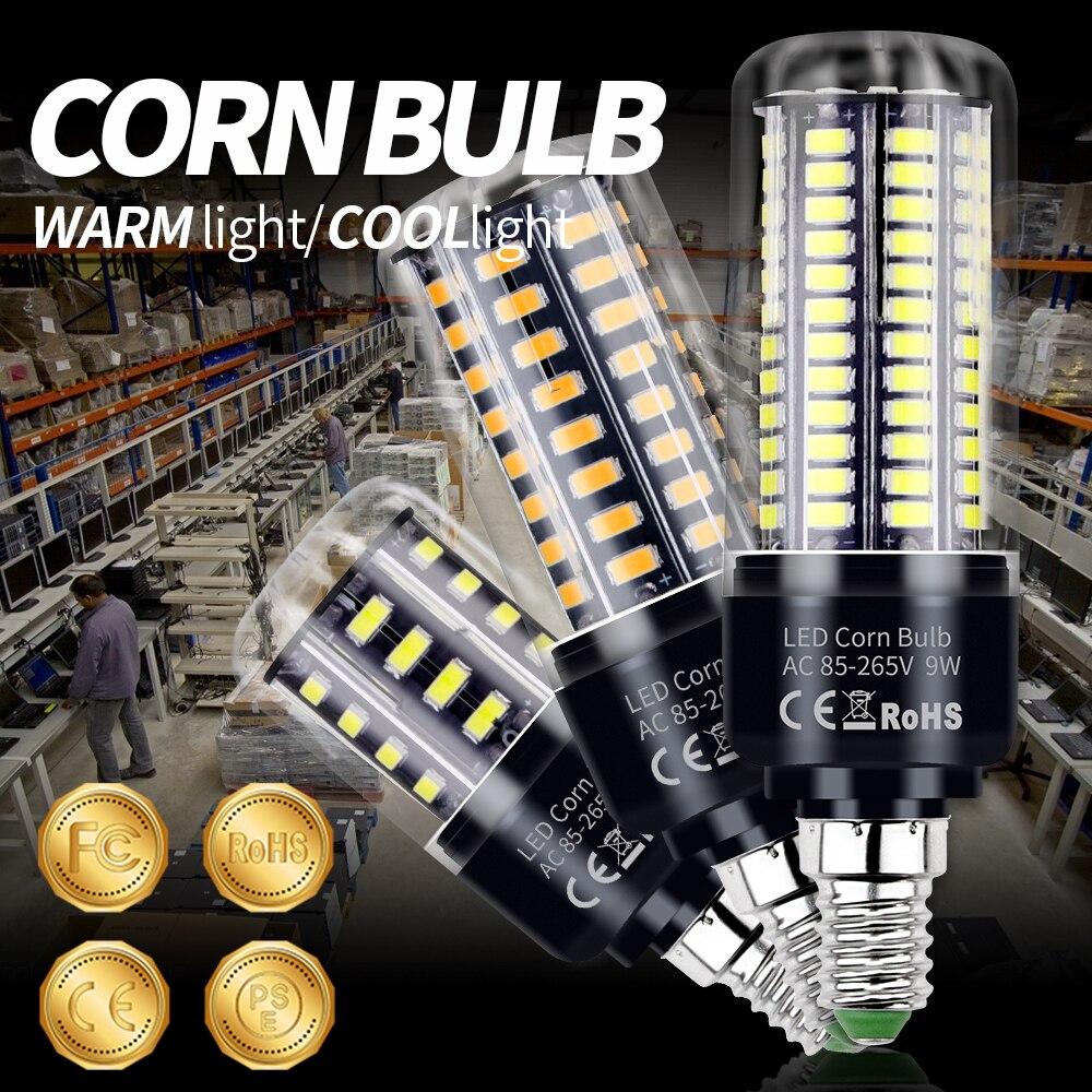 Led E27 220V Aluminum Corn Bulb Led Lamp E14 110V 3.5W 5W 7W 9W 12W 15W 20W No Flicker Kitchen Chandelier Led Light Decorative