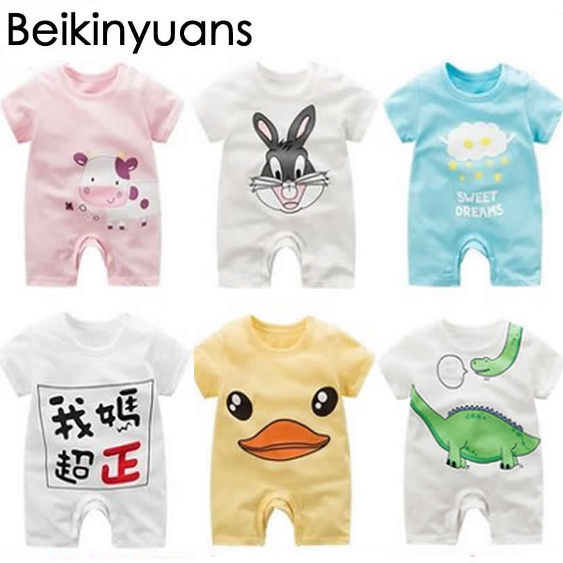 Newborn clothes summer font b Baby b font Girl Romper Clothes Cute Bebes Summer Outfit Sunsuit