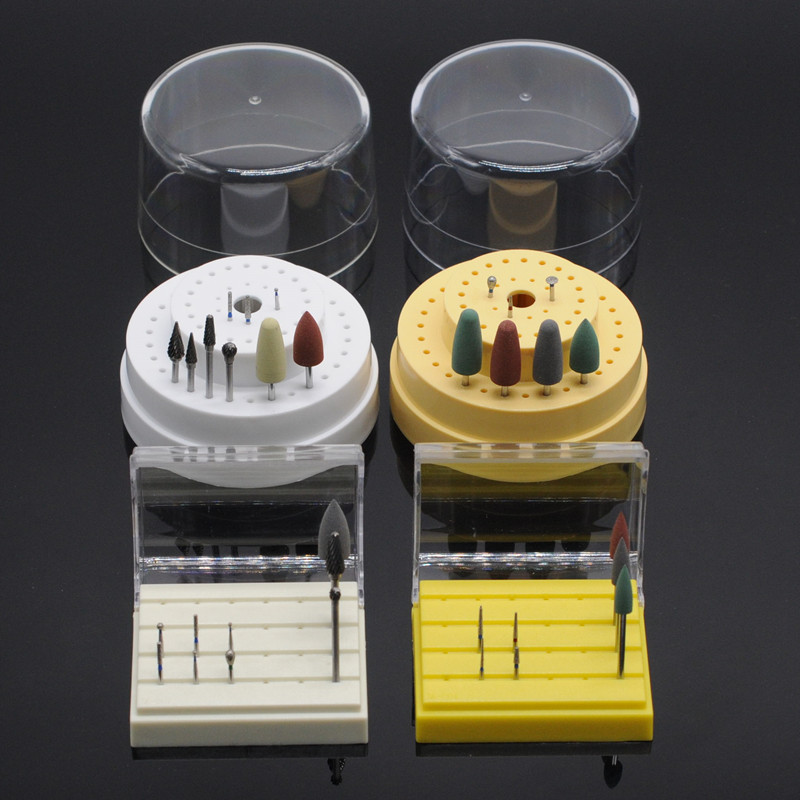 Dentist Lab Nitrate Tungsten Steel Material Burs With Bur Holder Block For Dental Clinic Supplies