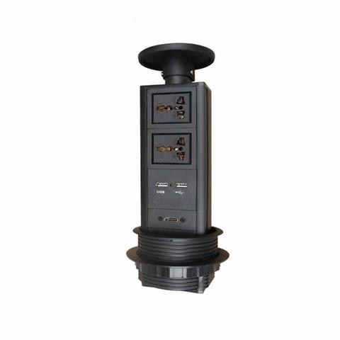 alta qualidade superior pop up tomada de energia 2 tomadas de alimentacao universal 2 carregador