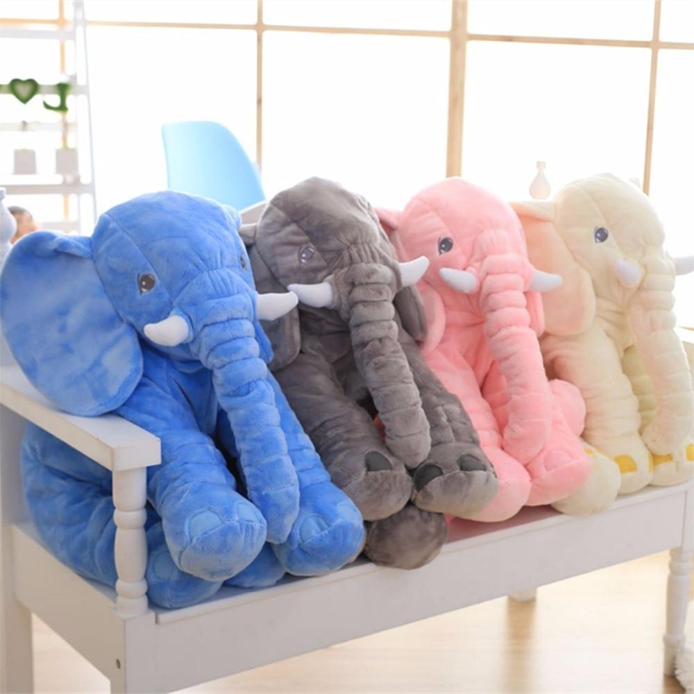 40/60 cm Kawaii Elephant Giocattolo Della Peluche con il Naso Lungo Cuscini Farcito Del Bambino Cuscini Super Morbido Peluche Elefanti Giocattoli regalo di Compleanno del capretto