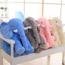 40 60cm Kawaii Elephant Plush Toy with Long Nose Pillows Stuffed Baby Cushions Super Soft Plush