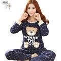 Pijama Feminino Lnverno Pijama Mujer Femme Pigiama Donna Além de Pijama Set Pijamas Mulheres Pijamas Pijama Noite Terno Sleepwear