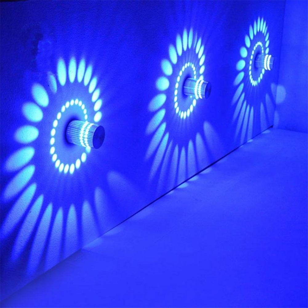 Espectacular efecto agujero en la pared multicolor RGB