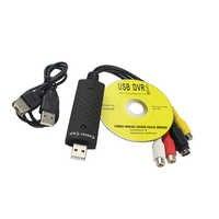 Easycap USB 2.0 Easy Cap Video TV DVD VHS DVR Capture Adapter Easier Cap USB Video Capture support Win10 Drive Free