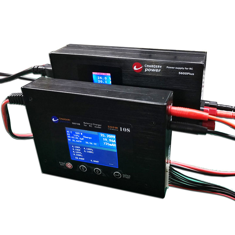 50010B and S600PLUS best combination charge LiPo Lifepo4 LTO Li ion Battery at 20A 500W Chargery