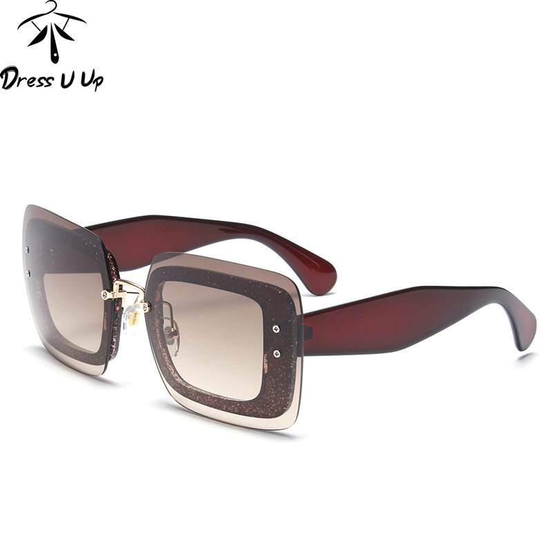 DRESSUUP New Cat Eye Sunglasses Women Brand Designer Square Big Frame Vintage Sun Glasses Oculos De Sol Feminino UV400
