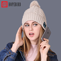 2017 New Fashion Bluetooth Music Hats Winter Hat For Women Autumn Knitted Hat Headset Caps 2017 Girls Men Hat Unisex