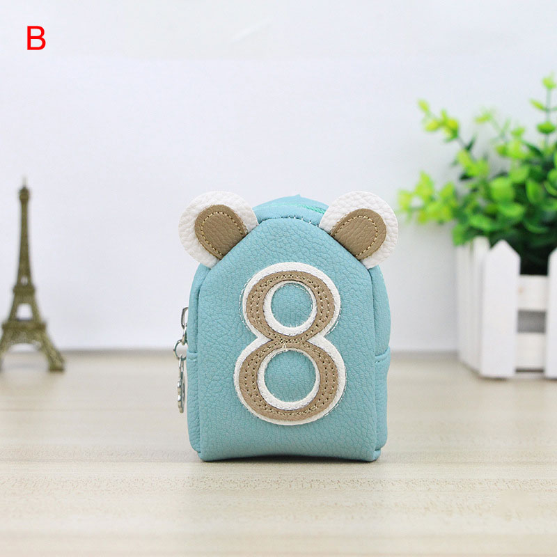 Korean Girls Mini Coin Purse PU Leather Zipper Card Bag Key Holder Number Change Wallet Clutch Money Bags Kids Gifts WML 2017creative cute cartoon coin purse key chain for girls pu leather icecream cake popcorn kids zipper change wallet card holder