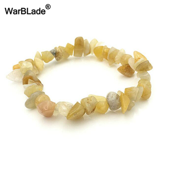 WBL 35Color Natural Gem Stone Bracelet Irregular Crystal Stretch Chip beads Nuggets Bracelets Bangles Quartz Wristband For Women 1