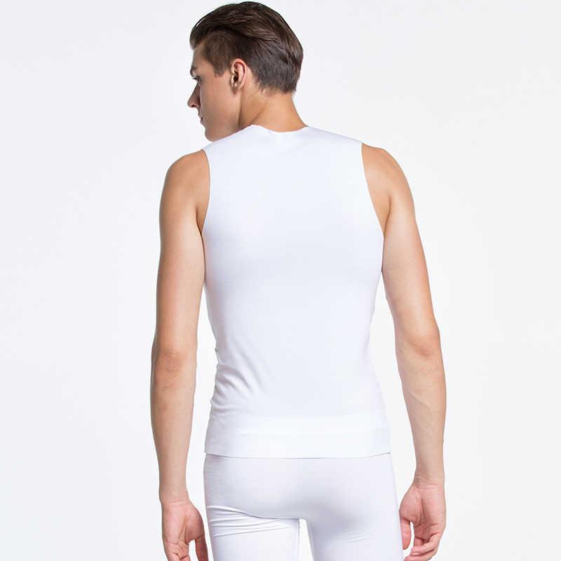 AsiaSkin 2019 Mannen Hemd Sets Naadloze Heren-bodysuit Wit en Zwart Sexy Singlet Nylon Korte Broek Heren Boxer Set tank Top