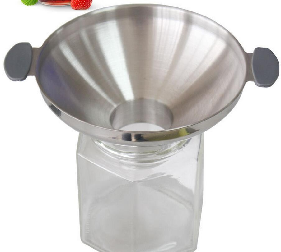 Stainless Steel Funnel Double Handle Funnels Juice Jam