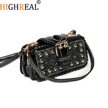 Free Shipping, 2019 New Chain Handbags, Tide Small Square Package, Fashion Woman Shoulder Bag, Han Edition Messenger Bag.
