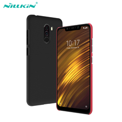For xiaomi pocophone f1 case cover 6.18'' NILLKIN Frosted PC Matte hard back cover Gift Phone Holder for pocophone f1 phone case