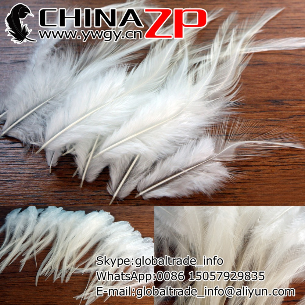 500 Pcs white hackle feathers