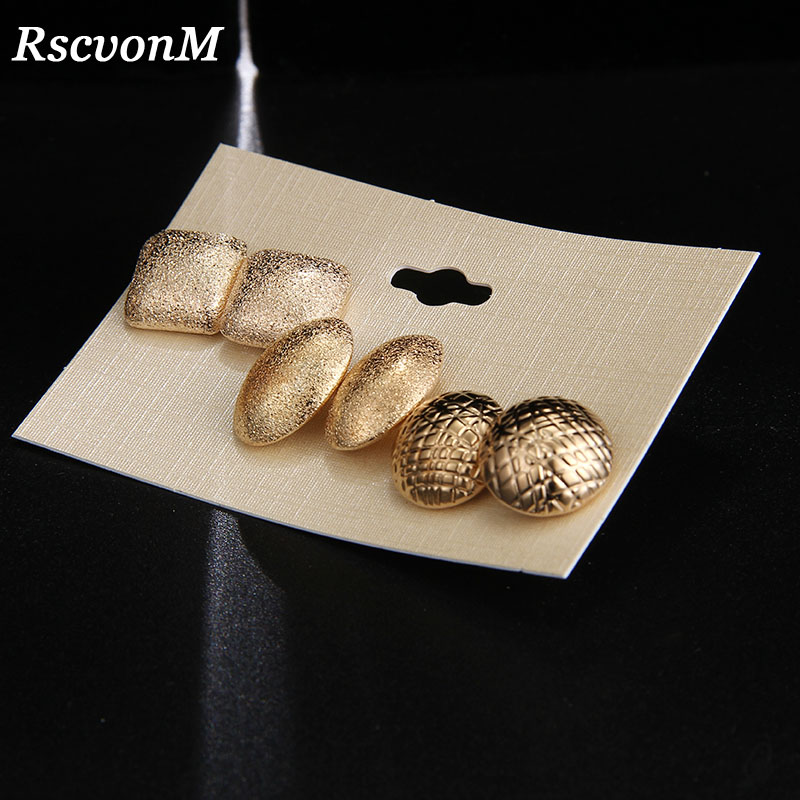 US $0.85 52% OFF|RscvonM Fashion Round Oval Women's Jewelry Wholesale Girls Birthday Party Alloy Earrings Set Mashup 3 pairs /set Earrings Gift-in Stud Earrings from Jewelry & Accessories on Aliexpress.com | Alibaba Group