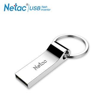 Netac USB Flash Drive 16 GB 32 GB USB 2,0 Flash Drive encriptado memoria llavero de Metal USB pluma coche impermeable pendrive