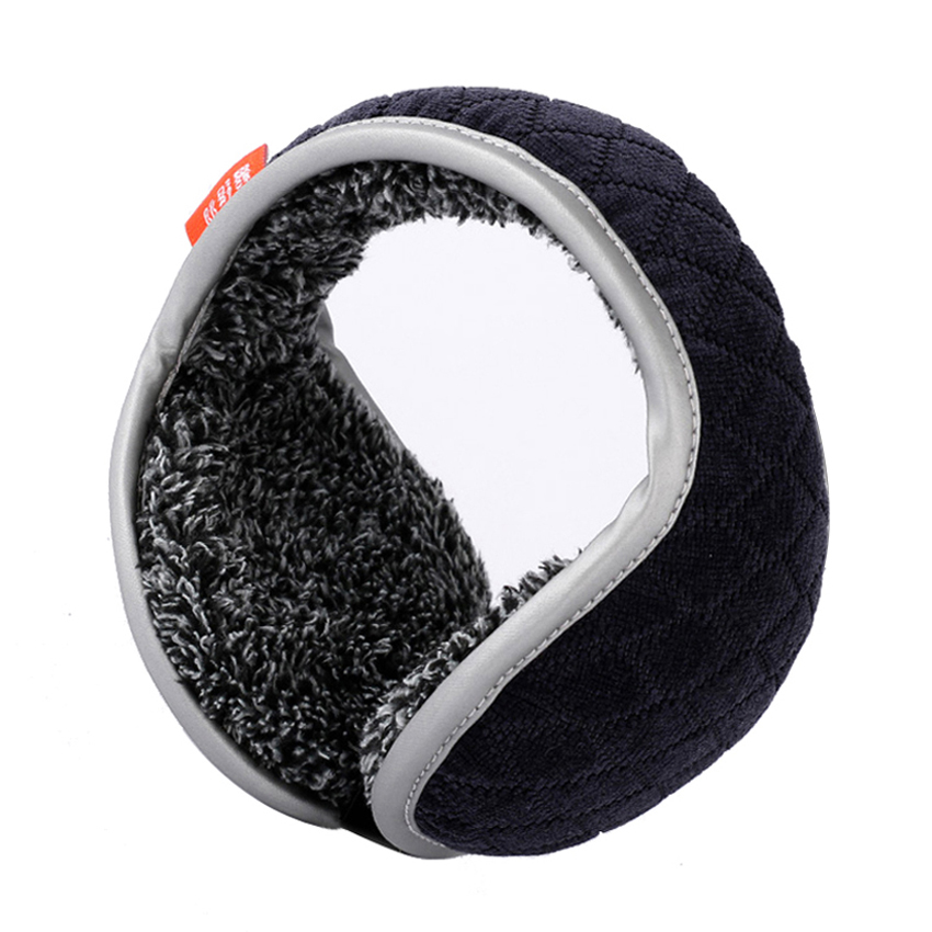 Winter Earmuffs Men Foldable Ear Muffs Back Wear Velvet Ear Warmers Warm Plush Earflap Adjustable Ear Cover Earbag