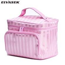 Elvasek sales women cosmetic cases travel bag jacquardmakeup bag organizer bags makeup cosmetic case large capacity DH0172