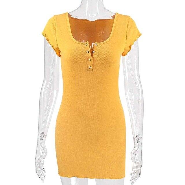 2018 New Black Yellow Sexy Bodycon Dress Women Night Club Mini Dress Spaghetti Strap Skinny Cami Dresses Vestido Party Dress 3