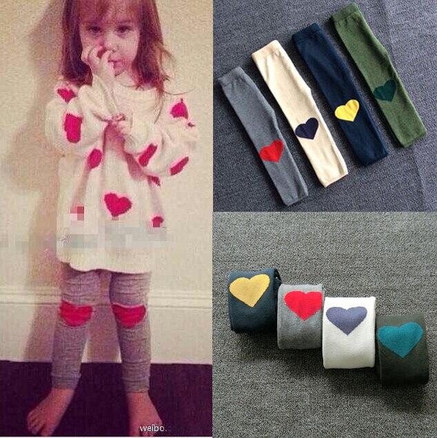 children's clothing girls leggings cotton knitted jacquard pants warm supple heart leggings