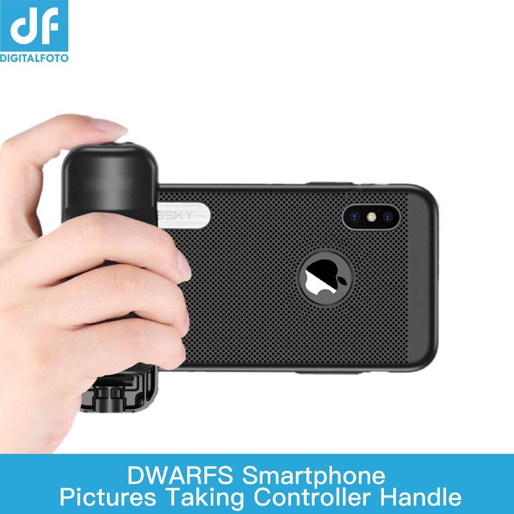 ZWERGE Selfie Booster Griff Grip Bluetooth Foto Stablizer Halter mit Auslöser für iPhone X 8 7 Xiaomi Huawei Samsung