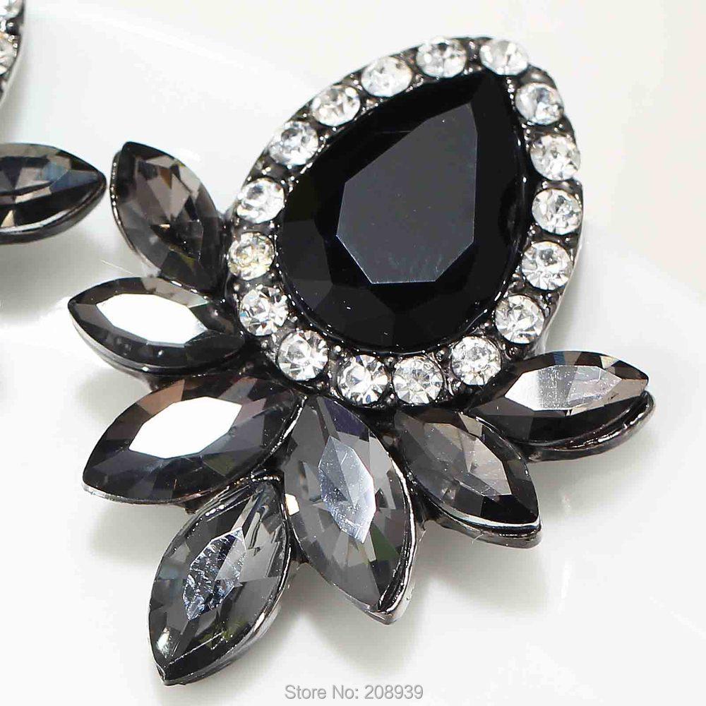 Aliexpress Women S Fashion Earrings Rhinestone Gray Pink