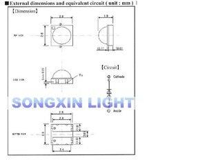 Image 4 - 2000PCS LED תאורה אחורית מתח גבוה LED 0.8W 2828 6V מגניב לבן 43LM GM2CC3ZH2EEM טלוויזיה יישום