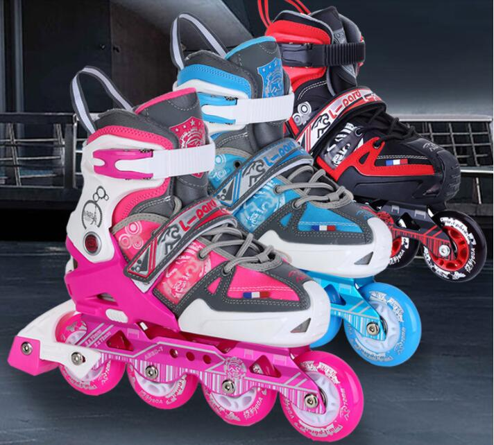 TOP quality!Kid's Roller Skates Shoes Athletic Roller Shoe for Children PU Material Skating Shoes 2 In 1 Inline skates Flat shoe vik max athletic shoe women tricot lined figure ice skates shoes