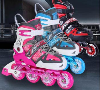 TOP quality!Kid's Roller Skates Shoes Athletic Roller Shoe for Children PU Material Skating Shoes 2 In 1 Inline skates Flat shoe цена 2017