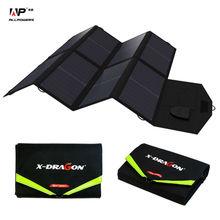 Allpowers 5 В 18 В 40 Вт солнечное зарядное устройство складная солнечная панель устройства использования на открытом воздухе заряда для IPhone Samsung IPad таблетки, ноутбуки.