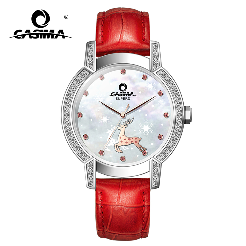 Relogio Feminino CASIMA Women Watches Fashion Waterproof Leather Diamond Ladies Quartz Wrist Watch Clock Saat 2018 Reloj Mujer casima women watches waterproof fashion ladies leather rhinestone gold quartz wrist watch clock woman 2018 saat relogio feminino