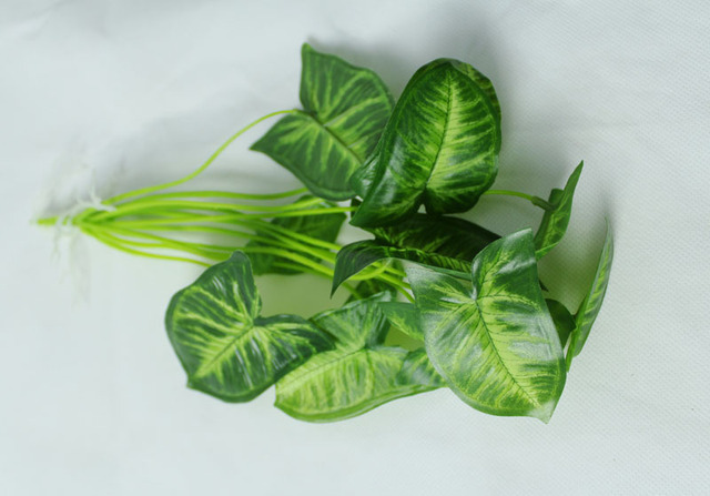 20pcs decorate home artificial plants fake mini leaf taro cents