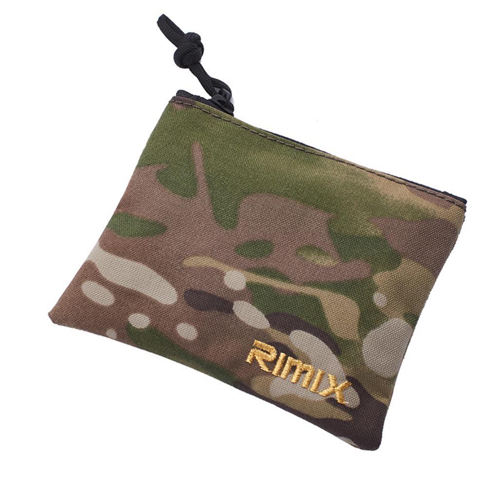 RIMIX Multifunctional Outdoor Tactics Coin Purse Cash Key Holder Zipper Wallet