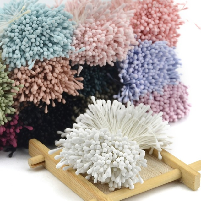 Us 1 6 800pcs 5mm Mini Stamen Matte Handmade Artificial Flowers For Wedding Party Home Decoration Diy Flower Garland Craft Accessories In Artificial
