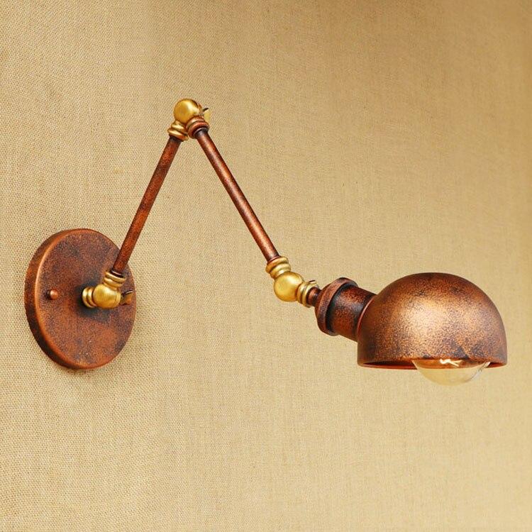 Rust Loft-Stil Industrielle Wandleuchten Wandlampen Swing Long Arm - Innenbeleuchtung - Foto 5