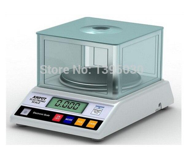 ФОТО 1pcs Precision Laboratory analytical balance 2000g x 0.01g Jewelry diamond gold weighing bench kitchen scale