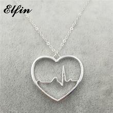 71c1c7004acd Elfin de moda collar de latido del corazón electrocardiograma mujeres  colgante collar joyería médica. € 2 ...