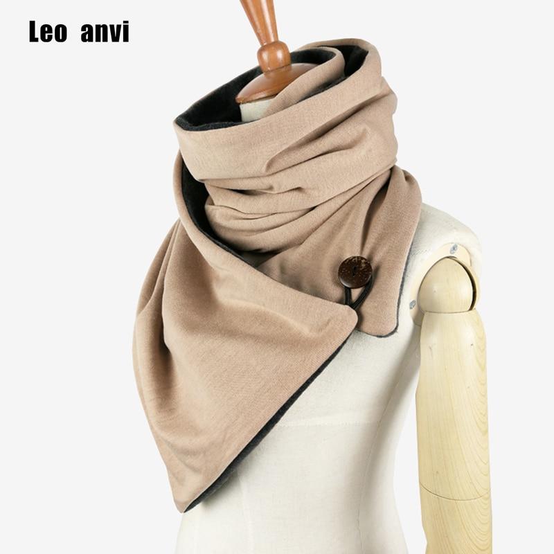 Leo anvi design Winter scarf Fashion Knit Mens infinity Scarf,Button Cowl Neck warmer Chunky tube Scarf women Gift scarves wraps