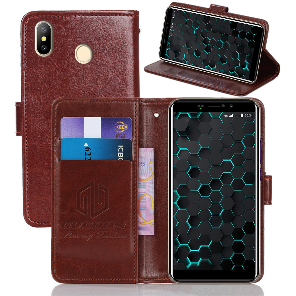 GUCOON Classic Wallet Case for Digma LINX Pay 4G Cover PU Leather Vintage Flip Cases Fashion Phone Bag Shield image