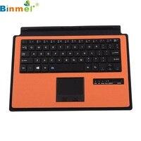 Красивый подарок Фирменная Новинка оранжевый Беспроводной Bluetooth клавиатура чехол сенсорная панель для Microsoft поверхности 3 10.8 дюймов dec28