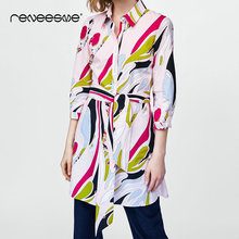 streetwear casual women shirt dress long sleeve turn down collar print sashes ladies dresses mini bow tie a line summer vestidos giyu summer women shirt dress casual striped printing dresses turn down collar vestido long sleeve basic robe femme