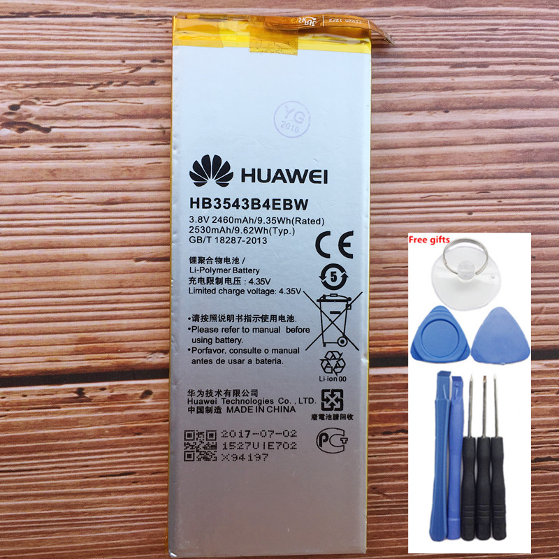 100% New 2460mAh HB3543B4EBW Battery For <font><b>Huawei</b></font> Ascend <font><b>P7</b></font> <font><b>L07</b></font> L09 L00 L10 L05 L11 Replacement Batteries+ Tools image