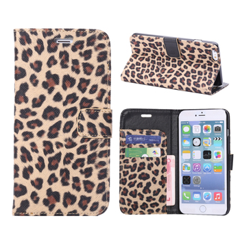 Funda de cuero con estampado de leopardo para iPhone 11 Pro Max, funda con tapa con billetera magnética para iPhone Xs Max XR X 5 5S 6 7 8 Plus