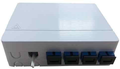 ODN FTTH 4 core Scatola di Terminazione in fibra 4 porte 4 canali in fibra presa Splitter Box indoor outdoor