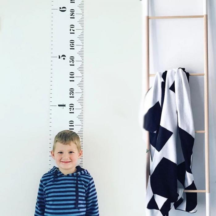 Водонепроницаемое измерение высоты настенная вешалка график роста детей настенная татуировка для детской комнаты декор может CSV