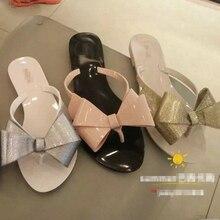 57d4d473ede New Fashion woman jelly beach sandals lady flip flops flats rain shoes  women summer travel Slippers slides
